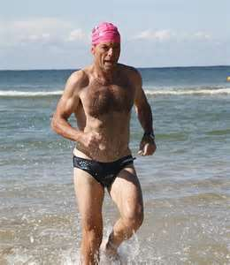 Tony in Speedos